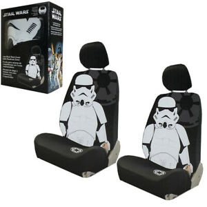 Disney Star Wars Stormtrooper Car Truck 2 Front Seat Covers With Headrest Covers