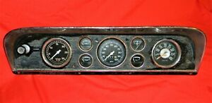 Vintage Ford Truck Instrument Cluster With Tach And Vacuum Gauges