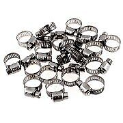 20 Pc Stainless Steel Hose Clamps Size 6 7 16 To 25 32