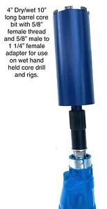 4 Wet Dry Core Bit With Adapter For Use On Hand Held Drill Or Rig Laser Welded