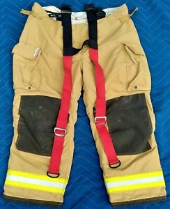 Firefighter Pants 46x30 Sperian Include Suspenders Turnout Fire Gear Made Canada