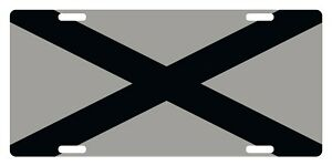 Alabama State Flag Custom License Plate Emblem Original Gray And Black Version