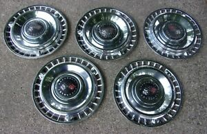 1961 Chevy Bubble Top Impala Nomad 14 Wheel Covers Hubcaps Set Of 5