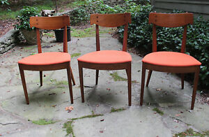 Mid Century Modern Set Of 3 Drexel Declaration Dining Chairs Excellent Condition