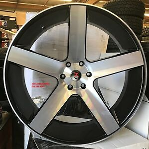 26 K9 Baller Wheels Black Machine Tires Silverado Tahoe Gmc Yukon Sierra Titan