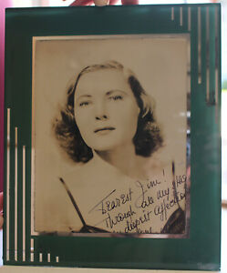 Antique Art Deco Reverse Painted Glass Picture Frame W Pin Up Photograph Signed