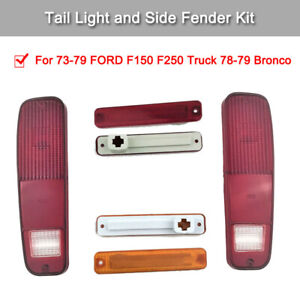 1 Set Car Tail Light Kit Compatible With F150 F250 Truck 1973 1979 Ford