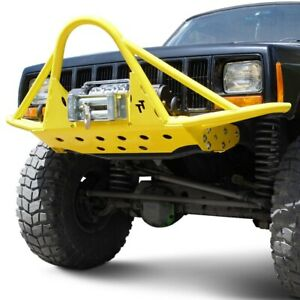 For Jeep Cherokee 84 01 Bumper Rock Runner Full Width Raw Front Winch Pre Runner