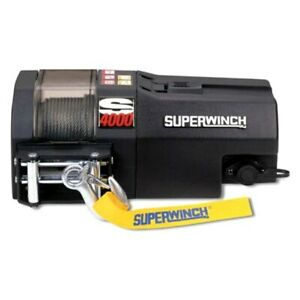 Superwinch S104159 4 000 Lbs S Series Electric Winch W Steel Cable