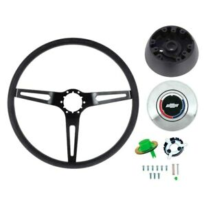 For Chevy Camaro 69 Oer 3 spoke Comfort Grip Steering Wheel Kit W Black Spokes