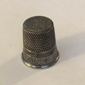 Antique Fluted Sterling Silver Thimble By Simons Bros Co 606