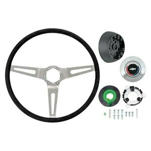 For Chevy Camaro 69 Oer 3 spoke Comfort Grip Steering Wheel Kit W Silver Spokes