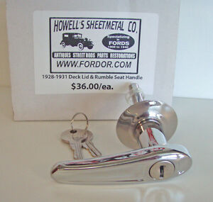 1928 1929 1930 1931 Model A Ford Trunk Lid And Rumble Seat Handle Coupe Roadster