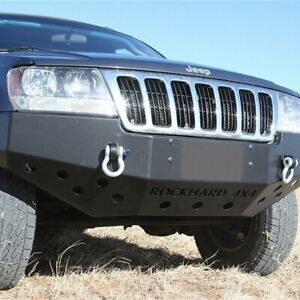 For Jeep Grand Cherokee 99 04 Bumper Patriot Series Full Width Black Front Winch