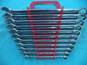 Snap On Flank Drive Plus Combo Wrench Set soex711 3 8 1 11 Pc W rack X lnt