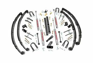 Rough Country 4 5 Suspension Lift Kit For Jeep Wrangler Yj 4wd 614 2