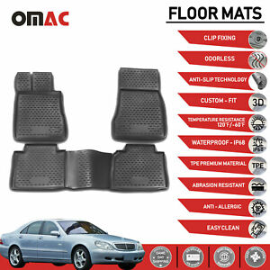 Mercedes benz S class w220 2000 2006 Floor Mats Liner 3d Molded Fit Black
