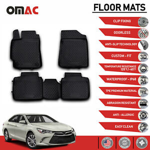 Floor Mats Liner 3d Molded Black Set Fits Toyota Camry 2012 2017