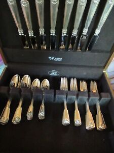 Shell Pat Tiffany Co Sterling Flatware Service For 8 40 Pieces 5 Pc Place Set