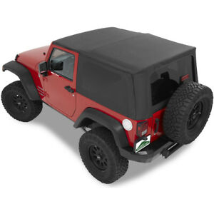 51202 35 Bestop Replay Replacement Soft Top For Jeep Wrangler 2 Dr 2007 2009