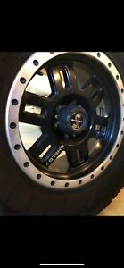 Shelby Rims Tires 35x12 5x18 F150 raptor ford truck custom black Ops Ford