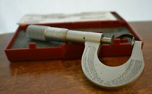 Starrett No 256 Flange Disc 1 Micrometer And Box Case Wrench