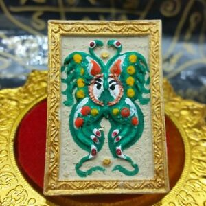 Amulet For Lucky Wealth Love Thep Jamlang King Butterfly Kruba Krissana Thai 001