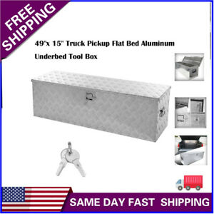 49 Heavy Duty Aluminum Tool Box For Truck Pick Up Trailer And Home Storage