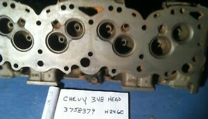 1960 61 Chevy 348 409 Engine Cylinder Head 250 280 Hp 3758379 Dated H 24 60