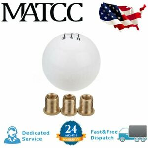 M10x1 5 5 Speed Round Ball Gear Shift Knob Shifter Car Manual Transmission Us