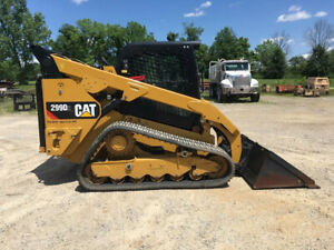 2018 Caterpillar 299d2 Two Speed High Flow Rubber Track Skid Steer Loader Cab Ac