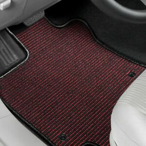 For Mitsubishi Sigma 89 90 Berber Auto Mat 1st Row Black Red Carpeted Floor Mats
