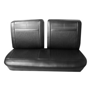 For Chevy Chevy Ii 62 64 Front Black Seville Grain Vinyl Bench Seat Cover