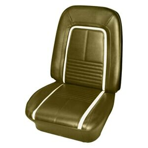 For Chevy Camaro 67 Seat Cover Front Gold Madrid Grain Vinyl Bucket Deluxe Style