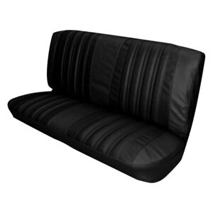 For Chevy Impala 66 Front Black Madrid Grain Vinyl Bench Seat Cover
