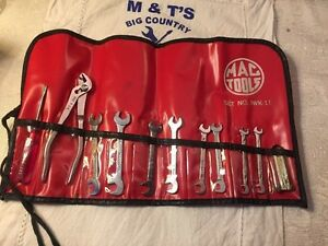 Mac Tools 11pc Ignition Wrench Set Iwk 11 In Red Pouch Usa