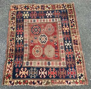 Antique Caucasian Kazak 3 3 X 3 10