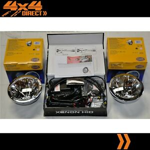 Hella Rallye Ff4000 Compact Chrome Driving Spot Lights With 55w Hid Conversion Kit