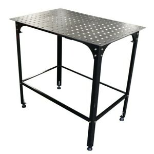 36 Adjustable Welding Table With 2 X 2 Hole Grid 5 8 Holes For Clamps 2d Frame