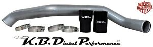 Silver Metallic Intercooler Tube Pipe Hot Side 11 16 Chevy Gmc Duramax 6 6l Lml