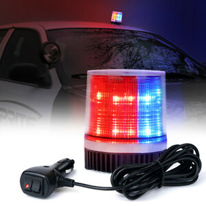 Red Blue Rooftop Emergency Warning Strobe Beacon Light Flash Security Rotating