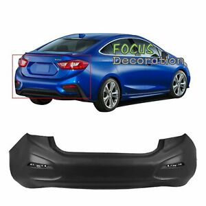 Primered Rear Bumper Cover For 2016 2017 2018 Chevy Cruze Sedan