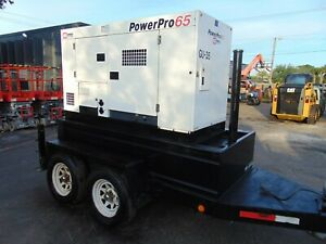 2008 Mmd Power pro 65 Trailer Mounted 3 Phase isuzu Turbo Diesel Generator