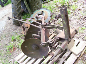 Vintage John Deere Tractor Implement 3 Point 4 Blade Disc Plow 21 Blades