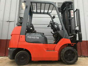 2001 Toyota 7fgcu25 5k Capacity Very Low Hour Cushion Forklift Lifttruck Hilo