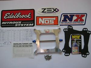Check Offer New Holley 4150 Street Strip Cheater Nitrous Plate Kit 50 250hp