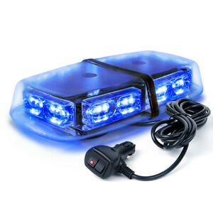 Xprite Blue 36 Led 18w Rooftop Flash Strobe Lights Bar Vehicle Emergency Warning