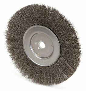10 Crimped Wire Wheel Brush Arbor Hole Mounting 0 014 Wire Dia 2 1 2