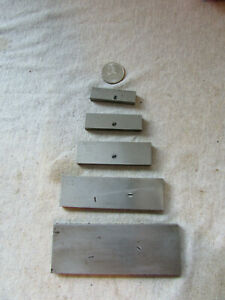 Lot Of 5 Adjustable Machinist Parallels General S 112 4 Plus Lufkin Rule No 915e
