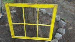 Architectural Salvage 6 Pane Old Window Sash Frame Pinterest Distressed Yellow